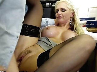 Devilsfilm Wedging Big Titty Mummy At The Office