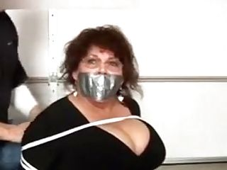 Instructor Tied Up And Ball-gagged