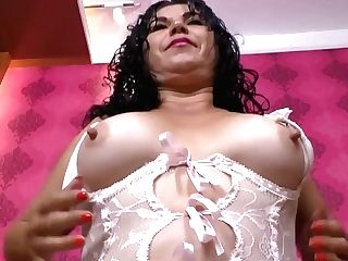Latina Cougar Lucia Is Ready For Some Perverse Clothespins Have Fun