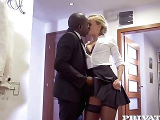 Victoria Unspoiled Is Anxiously Fucking A Black Stud, Because She Likes His Rock Hard Meat Stick