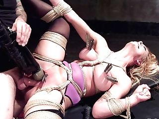 Marionette Training A Big Tit Blonde Bombshell In Restraint Bondage, Day One - Thetrainingofo