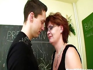 Ginger-haired Matures Educator Hookup In Detention Class