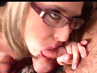 Blonde Haired Whorey Assistant In Glasses Inhales Staff Dick Of Her Chief Ardently