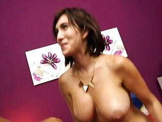 Well Stacked Dark-haired Cougar Deepthroats Delicious Pole And Gets Her Vag Fucked Rear End Style