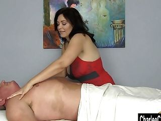 Charlee Chase Squeezes Out All The Jizm