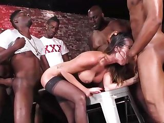 Dava Foxx Has Suggested Her Soaking Humid Slit To Cool, Black Guys And Ended Up Group-fucked