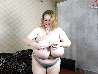 Immense Natural Titties Restraint Bondage
