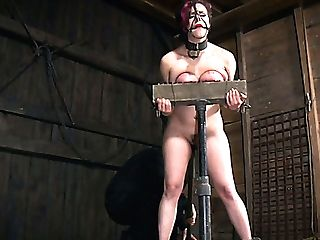 Restrained Ginger Bitch Iona Grace Had Supah Hard Hookup With Her Domination & Submission Acquaintance