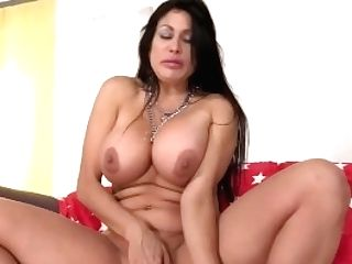 Matures Dark Haired Sheila Marie Masturbates Before Sucking And Fucking