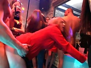 Supah Tarts Are Fucked Hard By Hot Blooded Studs At The Soiree