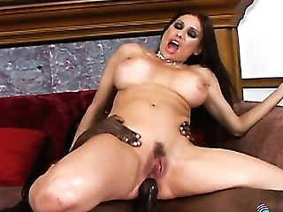 Real Buxom Black Head Goes Interracial For Hard-core Big Black Cock Foray Into Pink Pucker