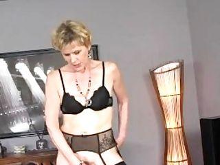 Matures Blonde Cougar Georgina Fucky-fucky And Underwear